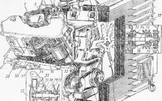 Схема охлаждения ямз 236