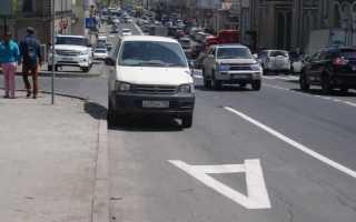 Движение по автобусной полосе штраф