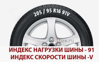Что значит индекс нагрузки на шинах