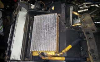 Замена печного радиатора нексия