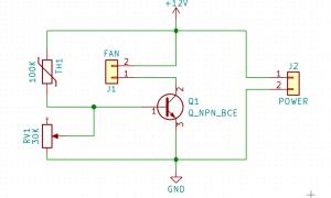 Регулятор оборотов вентилятора радиатора