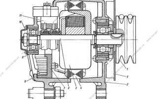 Схема генератора камаз 5320