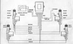 Блок центрального замка шевроле ланос