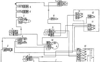 Схема подключения комбинации приборов камаз