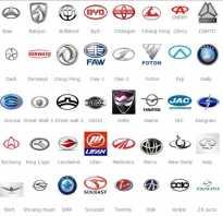 Эмблемы машин и их названия