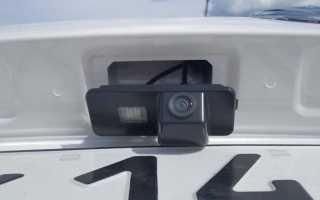 Установка камеры заднего вида на поло седан