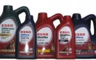Моторное масло эссо полусинтетика