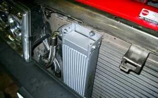 Устройство масляного радиатора автомобиля