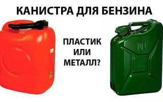 Железная канистра для бензина