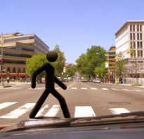 Штраф за сбитого пешехода на пешеходном переходе