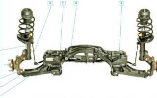 Задняя подвеска шевроле лачетти седан схема
