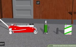 Как залить масло в гидравлический домкрат
