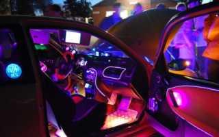 Киа рио подсветка салона