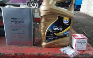 Toyota rav4 моторное масло